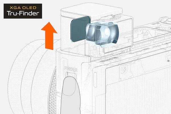 Accès au viseur électronique via un bouton