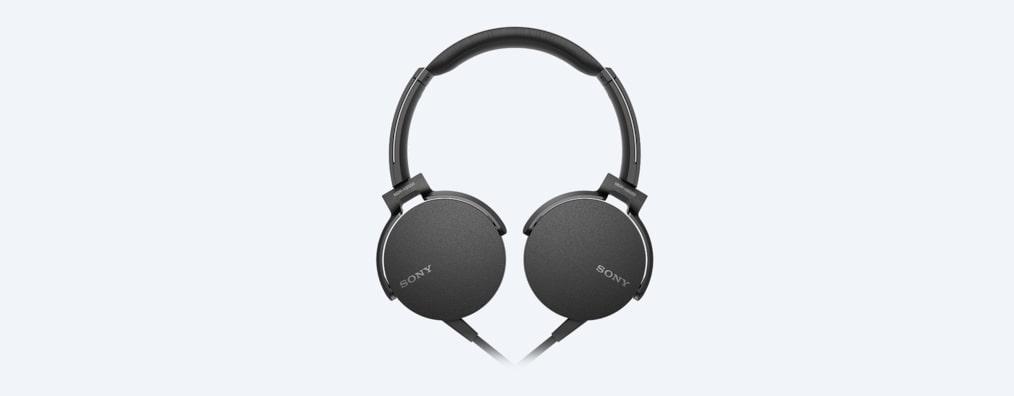 casque audio sony extra bass téléphonie mdr xb550ap noir