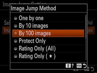 Sélection d'image efficace