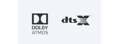 Logos Dolby Atmos/DTS:X