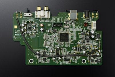 Image d'un circuit imprimé en verre-époxy