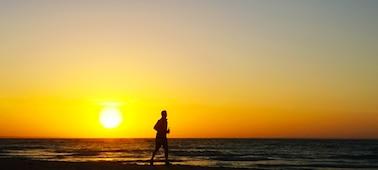 Image d'un coucher de soleil sur la mer avec le lissage XR 4K